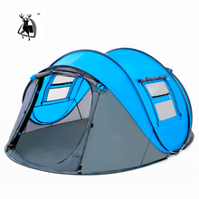 Open tent Throw pop up tents Outdoor camping Hiking automatic season Tent Speed Rainproof Family Beach large space Free shipping
