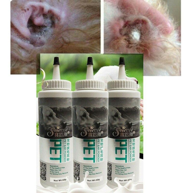 New Dog Cat Ear Clean Powder Health Care Ear Fresh Grooming Ear Powder font b Pet