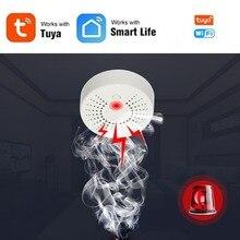 цена на Tuya WiFi Smoke Detector Fire Alarm Sensor Wireless House Security Smoke Alarm With Google Smart Home APP remote control