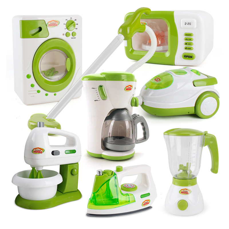 Mini Kitchen Toy Stimulation Home Appliance Children Doll House Furniture Accessories  Electric Cooking Model Pretend Play Toy
