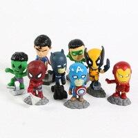 Superheroes Set of 8 Mini Figures 6
