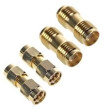 2 adet SMA erkek SMA erkek fiş + 2 adet SMA dişi SMA dişi Jack RF koaksiyel adaptör konnektör