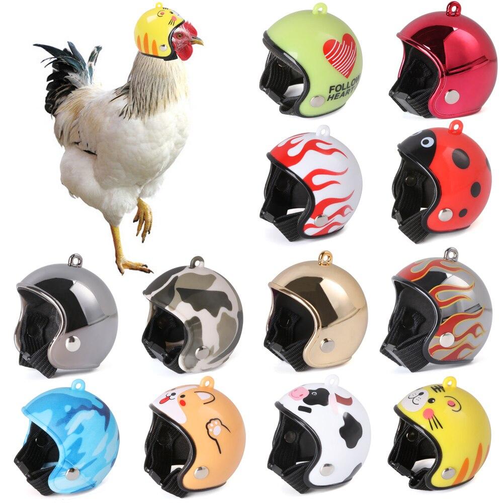 1pc capacete de galinha pequeno animal de estimação chapéu de pato de pássaro chapéu de codorna chapéu de cabeça de pássaro capacete de frango pet suprimentos