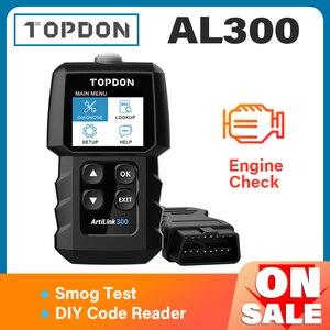 Image 1 - TOPDON AL300 Full OBD2เครื่องสแกนเนอร์ OBDII เครื่องมือวินิจฉัยอัตโนมัติรหัส Reader Fault อ่านรหัสเครื่องยนต์ตรวจสอบ Smog Test เปิด off IML