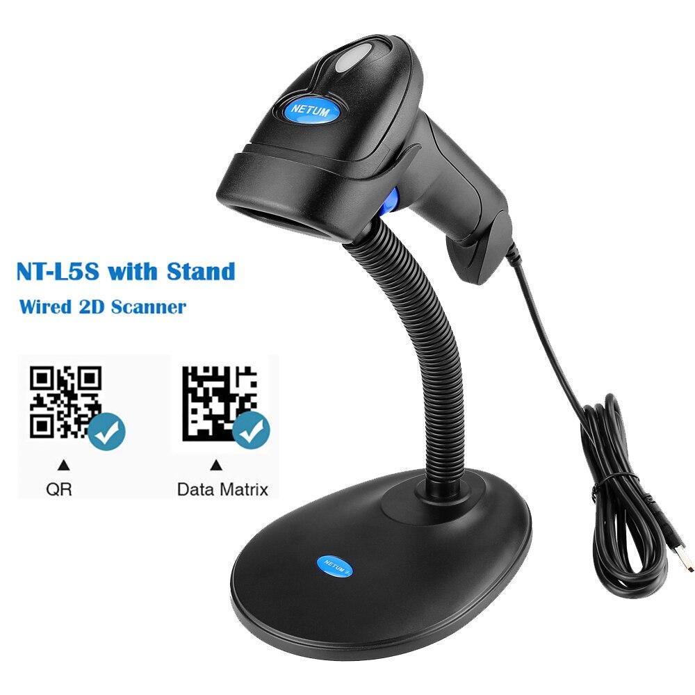 NETUM NT-L5 Verdrahtete 2D Barcode Scanner UND NT-L8 Drahtlose QR Bar code Reader PDF417 für Tabak Bekleidungs mobile zahlung Industrie