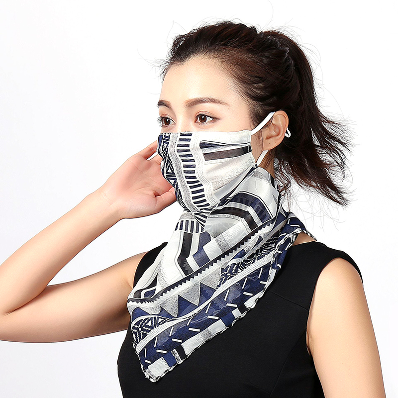 1 PCS Female Sunscreen Triangle Mask UV Protection Breathable Thin MASK Chiffon Out Door Fashion Riding Masks For Driving Scarfs