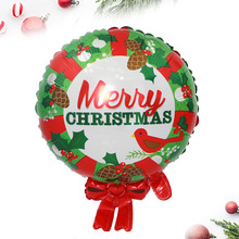 Manufacturers selling new Christmas wreath of decorative aluminum membrane balloons hotel store layout candy