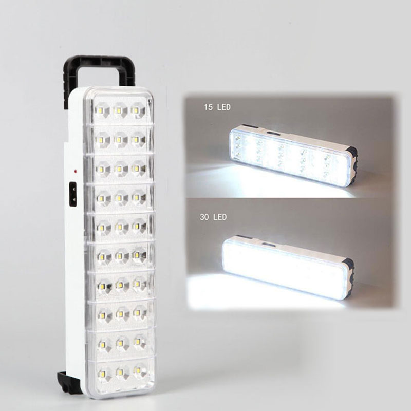LED Emergency Light Flashlight Mini 30 LED 2   Mode Rechargeable Emergency Light Lamp For Home   Camp Outdoor
