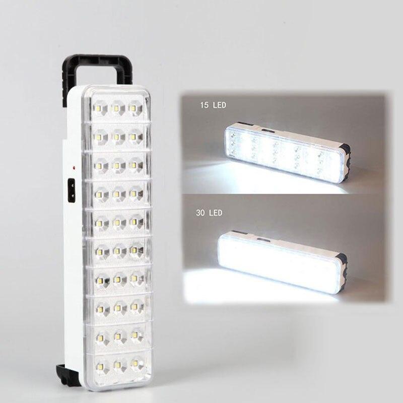 LED su geçirmez acil ışık el feneri mini 30 LED 2 mod şarj edilebilir acil durum ışığı lamba ev için kamp açık