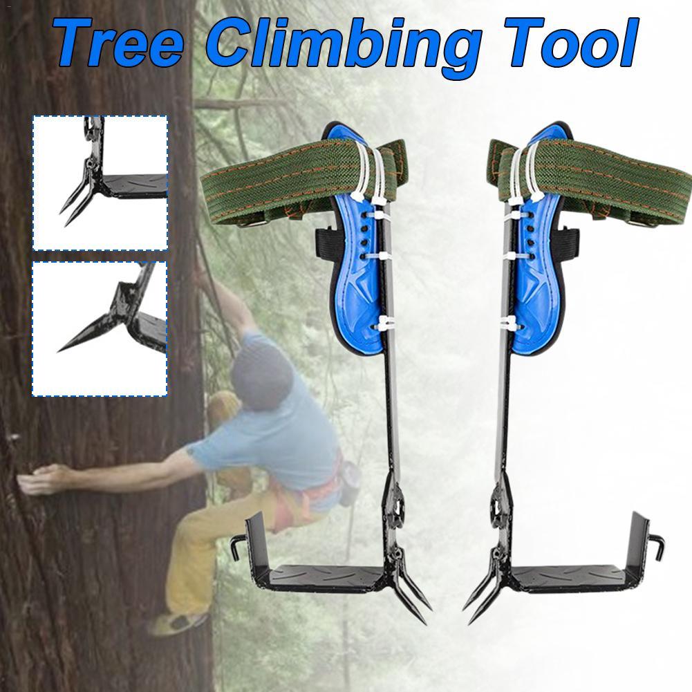 2 Gears Tree Climbing Spike Set Safety Belt Adjustable Lanyard Rope Rescue Belt Tree Climbing Tool Outdoor Gadget