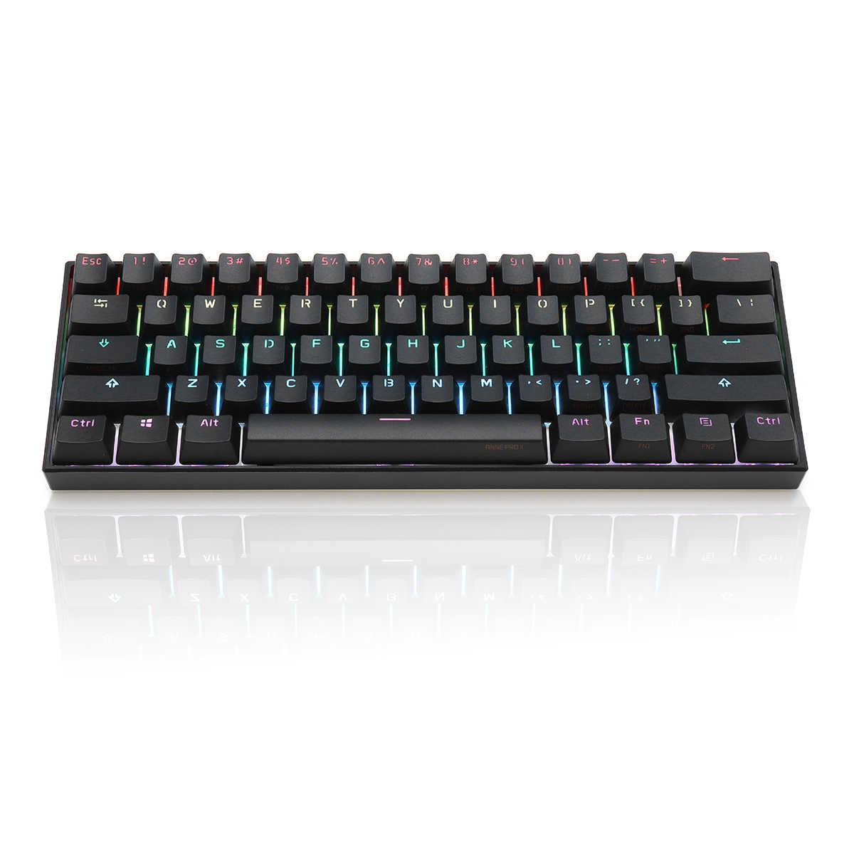 ANNE Pro2 Mini taşınabilir kablosuz bluetooth 60% mekanik klavye kırmızı mavi kahverengi anahtarı oyun klavyesi ayrılabilir kablo sıcak