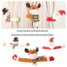 Curtain Buckle Small Santa Claus Elk and Snowman for Christmas Decoration