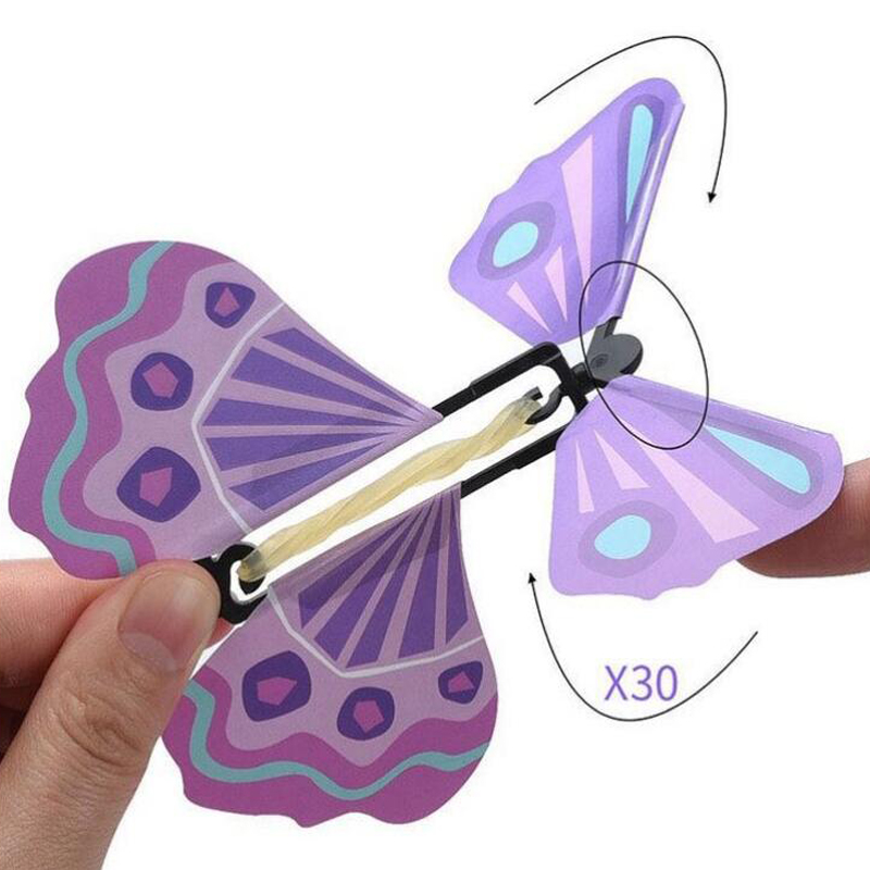 110x110mm Magic Flying Toys Transformation Fly Butterfly Props Tricks Change Hand Funny Prank Joke Mystical Science Novelty Kids
