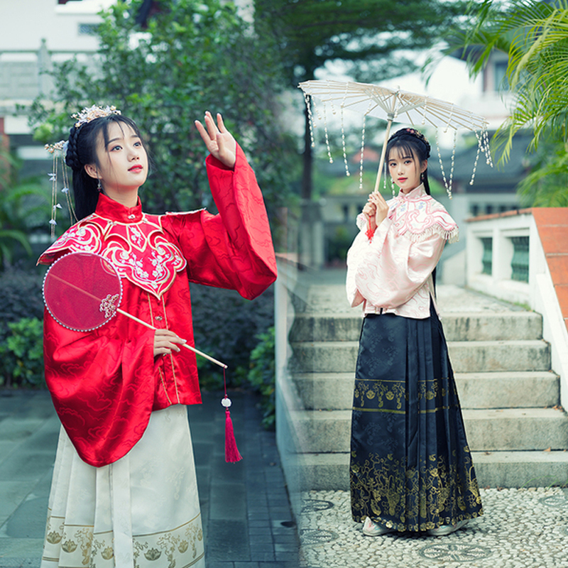 Hanfu Dress For Women Chinese Traditional Folk Dance Costume Ming Dynasty Ancient Elegant Fairy Clothes Princess Hanfu VO399