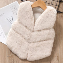 Baby girls clothes Autumn Winter Fashion Children Warm Waistcoat Kids Outerwear Kids Faux Fur Vest Thick Vest for Girls Coat(China)
