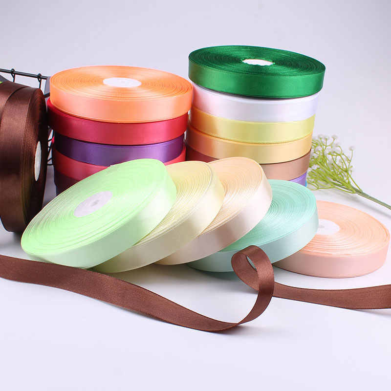 6/10/15/20/25/40mm Grosgrain Satin Ribbon for Wedding Christmas Party Decorations DIY Bow Craft Ribbons Card Gifts Wrap Supplies