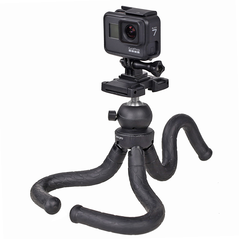 RM-30II Flexible Tripod for iPhone Xs Samsung Waterproof Tripod for Time-Lapse Photography 360 Degree Spherical Tripod for GoPro image