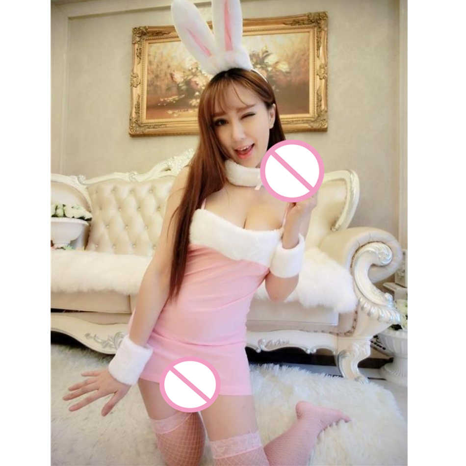 Temptation Blouse Mini Skirt Fun Sexy Underwear Rabbit Role Play Suits Christmas Uniforms (Color:3 Colors) Cosplay Bunny Suit