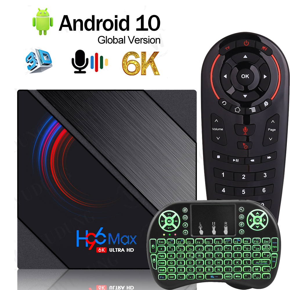 Newest Smart H96 Max H616 Android 10.0 TV Box H616 Quad Cor 2.4G&5.0G Dual WIFI BT4.0 6K HD 4G 32G/64G Set-Top Box PK X96 MAX