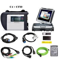 RIOOAK V2019.12 MB SD Star C4 Star Diagnosis C4 Diagnosis with WIFI for Cars and Trucks With laptop cf19 Touch Screen CPU i5/U54