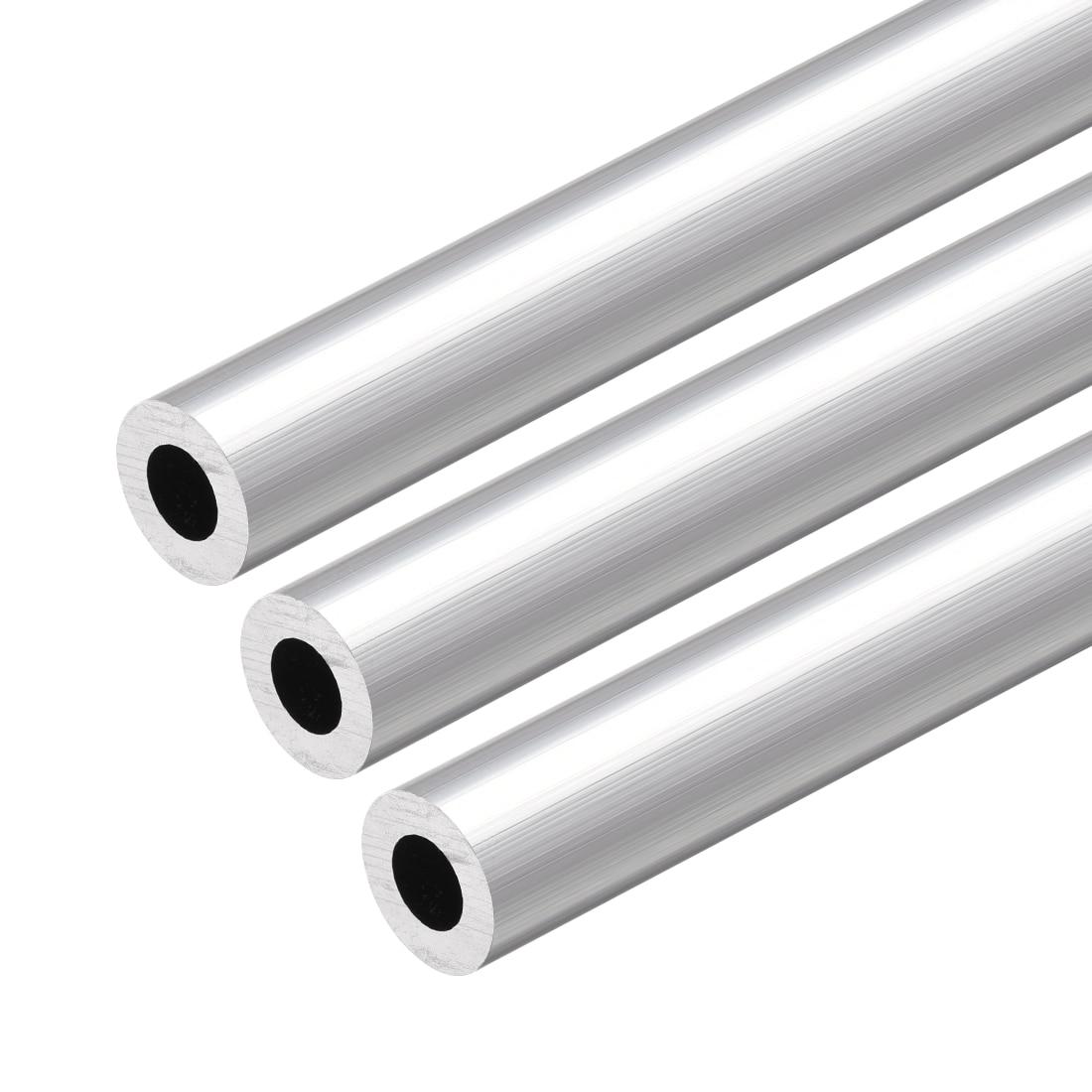 Uxcell 6063 Aluminum Round Tube 300mm Length 13mm OD 7mm Inner Dia Seamless Aluminum Straight Tubing 3 Pcs