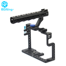 Bgning Aluminium Camera Kooi Video Stabilizer Met Top Handvat Grip Koude Schoen Voor Lumix GH5 Fotografie Camera Kooi Kit
