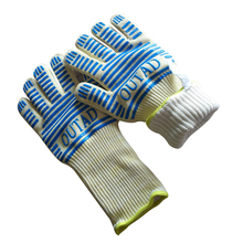1 Pair Heat Resistant Gloves For Cooking Baking Barbecue Oven Gloves BBQ Grill Mittens Kitchen Supplies cakelove heat resistant bbq glove fire insulation gloves kitchen oven grill bake gloveskitchen tools baking accessories