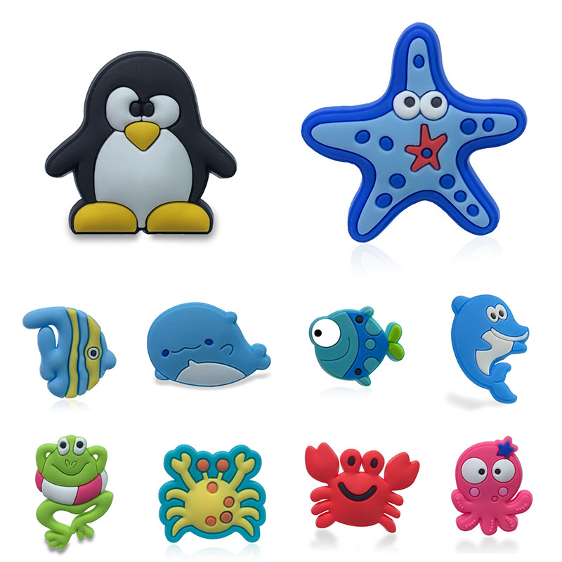 1pc Cute Pets Animals PVC Shoe Charms Shoe Accessories Rabit Shoe Decoration Panda Croc Charms Jibz Kids Party X-mas Gift