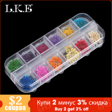 LKE 12 Color/Set  Nail Glitter Mixed Dried flowers Color Nail Modification for UV Gel Flakes Nail Art Decoration Sparkly DIY Tip