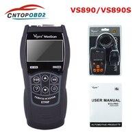 Vgate VS890 OBD2 Scanner VS890S Code Reader Support OBD OBDII CAN Protocols Multi-languages VS-890 OBD Car Diagnostic Tool