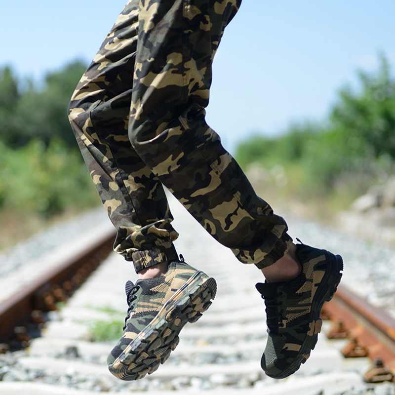 Heflashor ใหม่ทำงานรองเท้าผ้าใบทำลาย Ryder รองเท้าผู้หญิง Toe Air ความปลอดภัยรองเท้าเจาะหลักฐาน Breathable รองเท้า