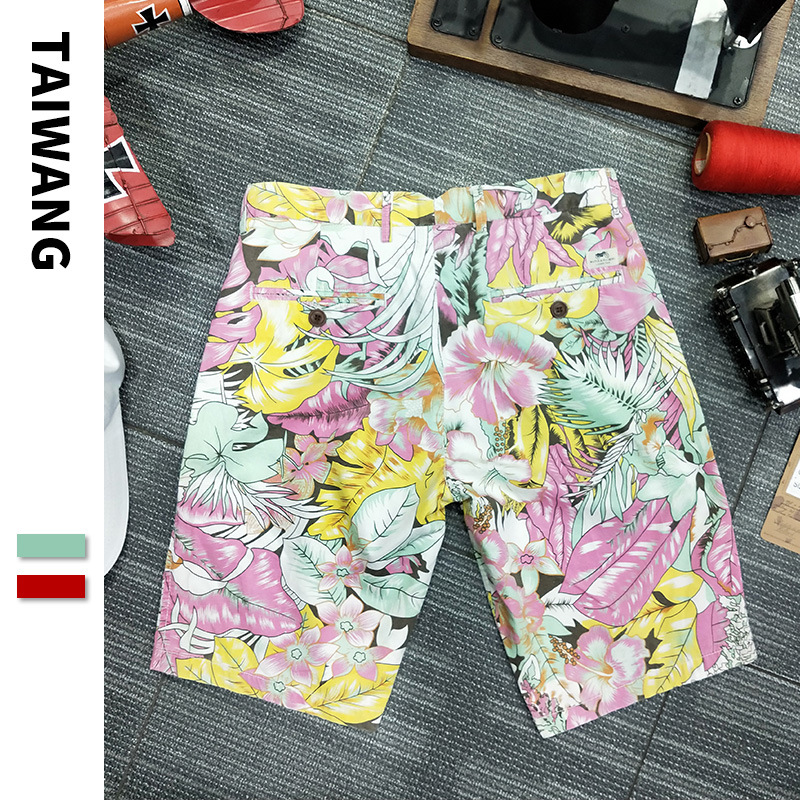 Europe And America MEN'S Beach Pants 2019 Summer New Style Floral Casual Shorts Men's Trend Loose-Fit Printed Shorts