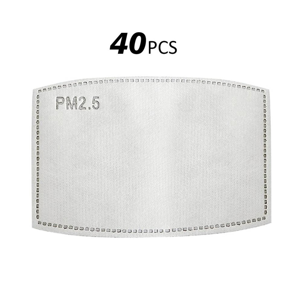 40/20/100 Replacement Non-Woven Dust Pad Three Layers Protective Disposable Melt-Blown Cloth Mask Gasket