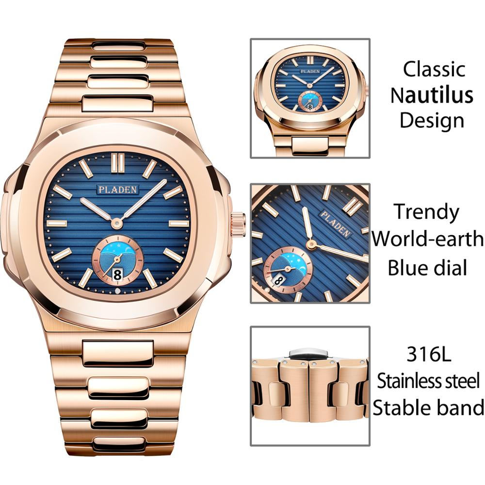 Image 5 - Classic PP NAUTILUS 5711 Designer PLADEN Brand Watch For Men Fully Steel Chronograph AAA Stianless Steel Luminous Business WatchQuartz Watches   -