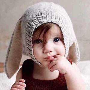 Xiaoyu Baby Girls Boys Winter Hat Scarf Woolen Earflap Hood Scarves Skull Caps Blue