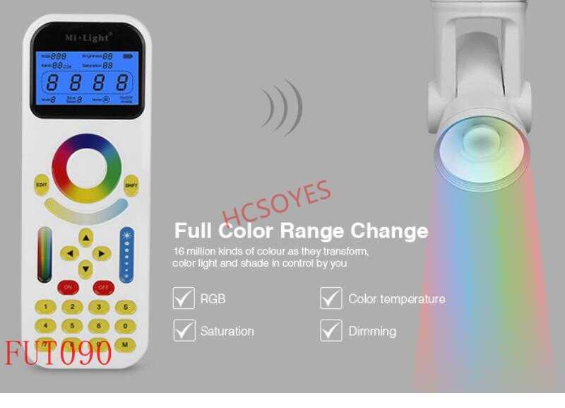 Milight FUT005 FUT006 FUT007 FUT089 FUT096 FUT092 FUT095 zdalnego 2.4G 4 strefy kontroler LED przycisk/dotykowy RF bezprzewodowy pilot zdalnego