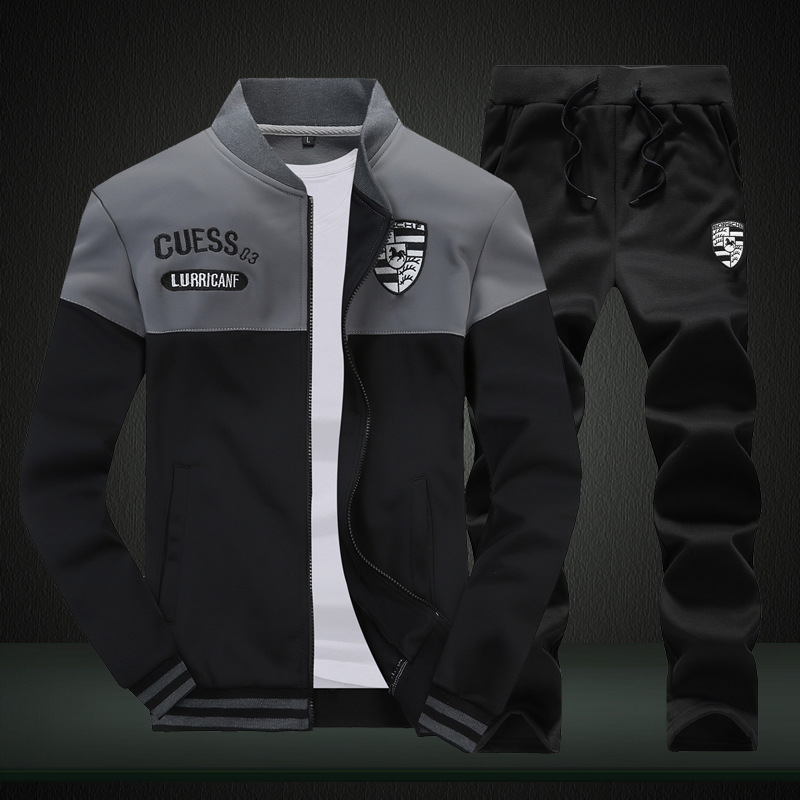 New Style Sports Set Men Spring Summer Running Casual Sweatshirt Athletic Clothing Sports Clothing Set Men's Spring And Autumn S