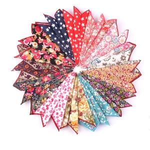 New Pocket Square For Men Women Floral Chest Towel Hanky Gentlemen Hankies Men's Suits Handkerchief Print Pocket Towel