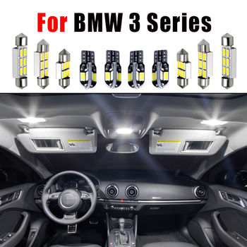 Error Free White LED Car Interior Light Package Kit For BMW 3 Series E36 E46 E90 E91 E92 E93 (1990-2013) LED Interior Lights image