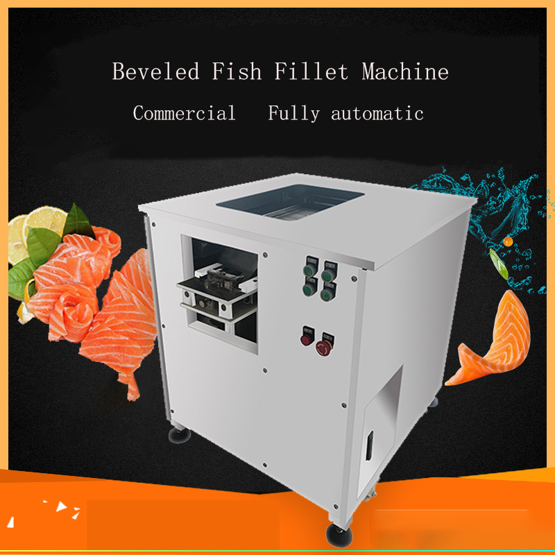 YC-180 Full-automatic Fish Cutting Machine Commercial Electric Small Multi-function Slicer Oblique Cutting Fish Fillet Machine