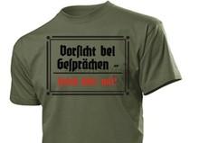 T-Shirt Vorsicht bei Gesprchen Feind hort mit Gr 3-5XL WH WK2 Wehrmacht #1