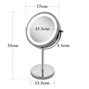 Image 4 - LED Makeup Mirror Cosmetic Mirror 7 Inch 10x Magnification Dual Sided 360 Degree Rotating Professional Make up Mirror