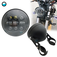 """5.75"""" 5 3/4"""" Motorcycle Projector 45W LED Lamp Headlight For Street 750 moto LED Headlamp For Softail Dyna And Sportster Models.