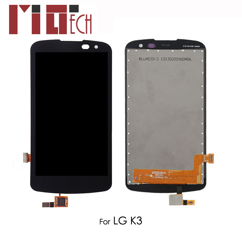 LCD Display For <font><b>LG</b></font> K3 <font><b>K100</b></font> Touch Screen Digitizer Full Assembly Replacement Black No Frame image