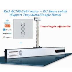 Автоматический привод для окон, 220 В, с регулируемой цепочкой, Wi-Fi, с пультом дистанционного управления Alexa и Google