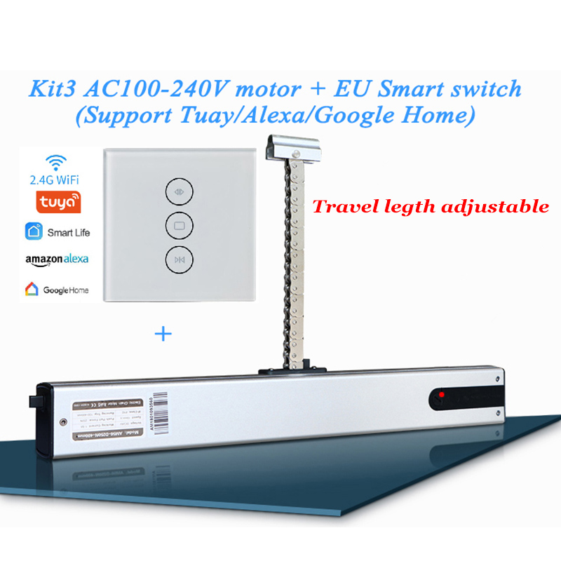 220V cadena ajustable ventana actuador Wifi automática ventana claraboya Motor de efecto invernadero conducir Alexa Google control remoto