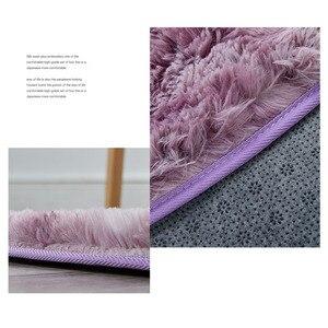 Image 5 - Tie Dye Ronde Tapijt Fotografie Props Home Decoratieve Fauteuil Mat Anti Slip Tapijt Grijs Kleurverloop Pluche Woonkamer tapijten