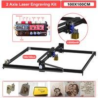 15000mW 100*100CM 2Axis Laser Engraving Machine Desktop DIY Laser Engraver Cutter Wood Router Kit
