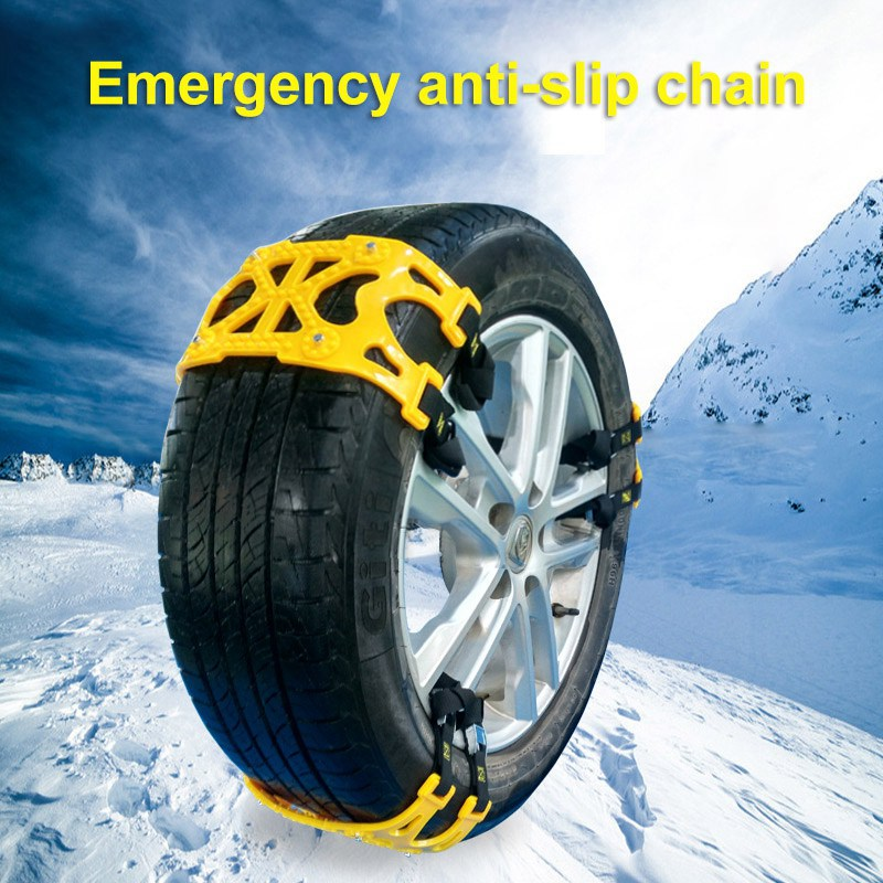 6Pcs Car Snow Tire Wheel TPU Anti skid Chains Belt for Two Tires Truck Off Road SUV Emergency Anti Skid Mud Snow Survival Tracti