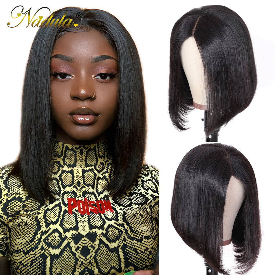 Nadula Hair 130%/150%/180%Density Straight Bob Human Hair Wigs For Women Pre Plucked 13*4/13*6 Remy Hair Straight Lace Front Wig
